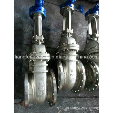 Válvula de porta de aço inoxidável com extremidades em flange