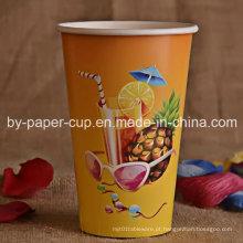 Copo de papel clássico da bebida fria