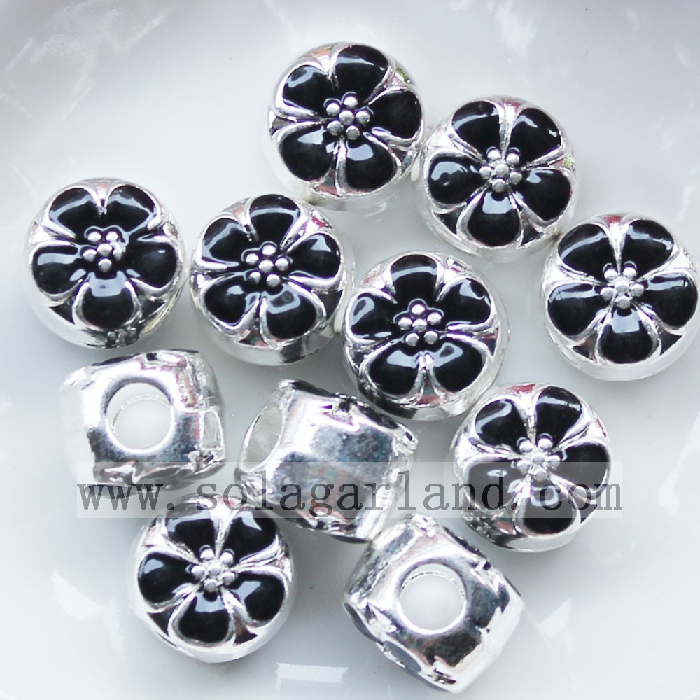 Oil Drop Flower Metal Loose Beads