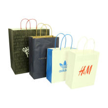 Free design customized christmas paper carry bag tote bag luxury recycled brown paper bags