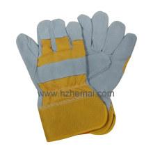 Rindsleder Handschuhe Split Leder Handschuhe Sicherheit Bergbau Arbeitshandschuh