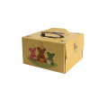 Brown Logo Strong Handle Birthday Cake Carrying Box