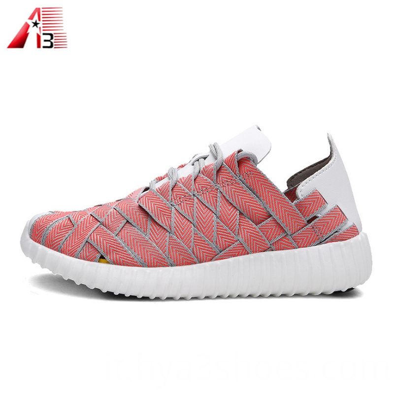 Fashionable Breathable Elastic Woven Shoes