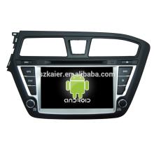 venta caliente, android 4.4.2 dvd del coche con gps, wifi, Bluetooth, MIRROR-CAST, AVIÓN, DVR, juegos, zona dual, SWC para hyundai I20