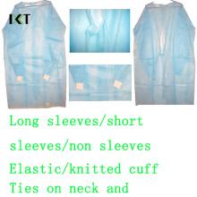 Pansement médical jetable de robe chirurgicale pour l'hôpital ou l'industrie alimentaire Kxt-Sg05