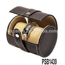 caixa de relógio de couro profissional para 2 relógios da fábrica de China