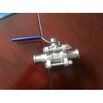 Sanitary Three Piece dengan Threaded Ball Valve