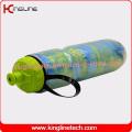 Bouteille d'eau sport plastique à double paroi 600ml avec BPA Free