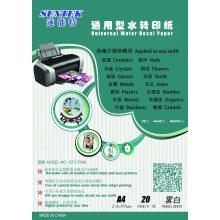 Universal Water Transfer Sticker for Inkjet or Laser Print