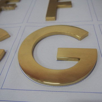 Flat Cut Metal Letters Wholesale