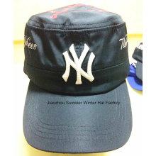 Дешевые высококачественные плоские вершины вышитые бейсбольные кепки спорта