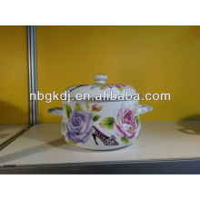 HIGH QUALITY ENAMEL STOCK POT WITH METAL LIDS