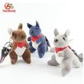 Llavero barato personalizado de la panda del perro del canguro del elefante de la felpa