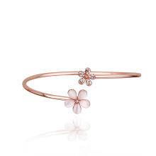 Оптовая Zhejiang розовое золото кристалла и опал авеню аксессуары открытый браслет цветок браслет