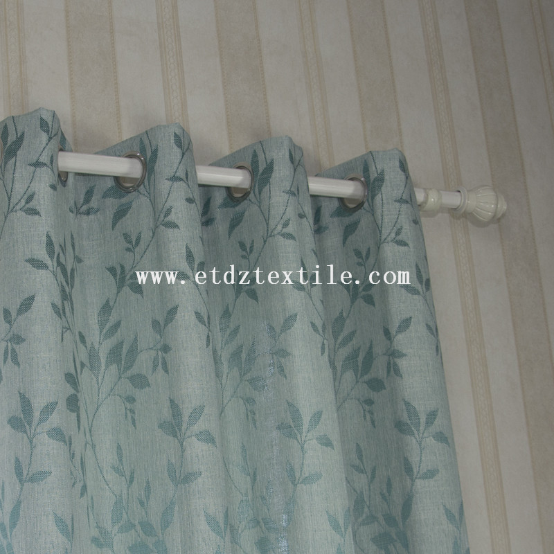 6006-14 Typical Small Leaf Jacquard Design of Window Curtain