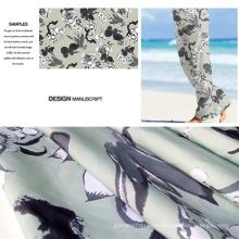 Poliéster cepillado impresa playa pantalones tela / tela de Ropa Casual