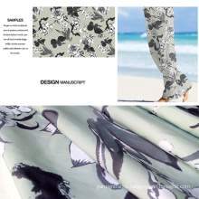 Polyester Brushed Printed Beach Pants Fabric/ Casual Wear Fabric