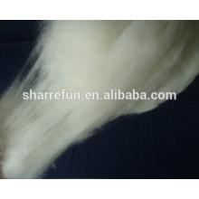 Hohe Qualität Enthaarte Innere Mongolische Kaschmir-Faser Natur Weiß
