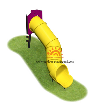 Diámetro exterior HPL Playground Equipment Plastic Slide