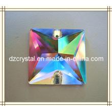 Shiny Fancy Square Crystal Sew-on Rhinestone (DZ-3068)