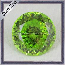 Moda Nova Gemstone Alta Qualidade Verde Zircônia Cubic