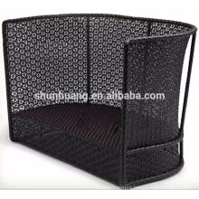 PE rattan sofa sets black wicker