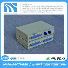 Boîte de commutation de partage d'imprimante parallèle DB-25 à 2 ports 25 broches