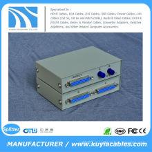 Manual 2 portas 25 pinos DB-25 Parallel Printer Sharing caixa de comutação