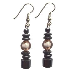 Hematite Earring With 925 Unique Silver Hook