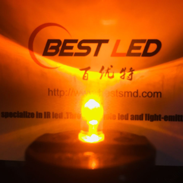 Ultra brillante LED amarillo de 5 mm Ámbar LED de 595 nm