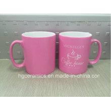 Spray Color Mug, Pink Color Printing Mug