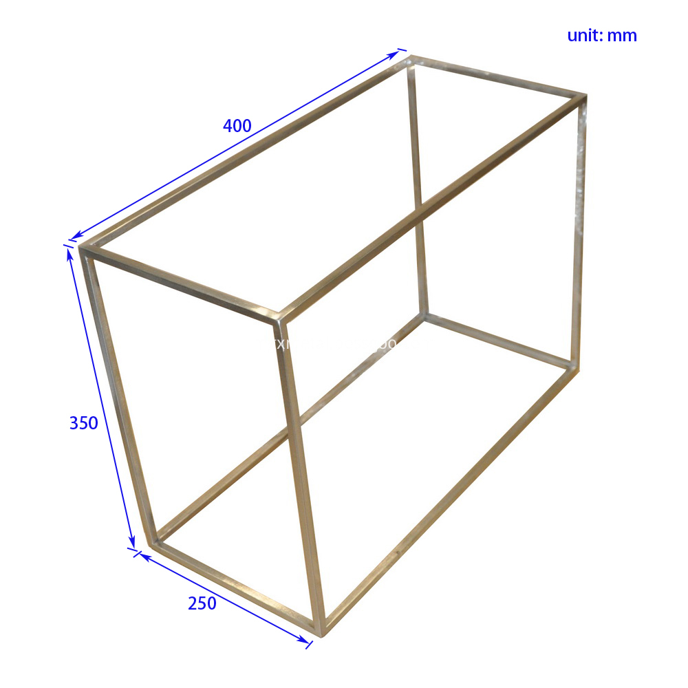 SSDT0006 8mm Stainless Square Bar Shoes Display Stand Size