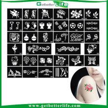 Getbetterlife 2014 nueva temporal mantenimiento 5-7days brillo plantillas moda diseños de tatuajes del brillo