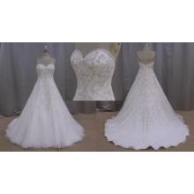 Real Sample Wedding Dress Crystal Bridal Dress
