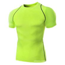 Usage sec de compression de vêtements d'ajustement de muscle de conception faite sur commande des hommes, usage de gymnastique