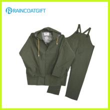 PVC/Polyester Rainsuit with Bib Pants (RPP-010A)
