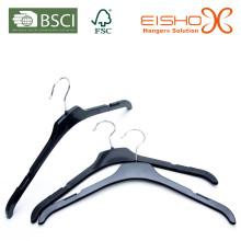 Barato e leve preto plástico cabide superior