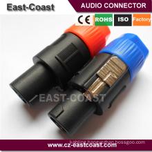 Audio Speaker Plug Twist Lock 4 Pole Speaker Plug