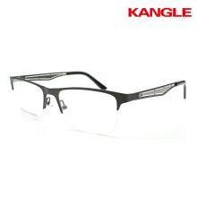 marcos de anteojos de moda marcos de metal listo para el uso de gafas ópticas