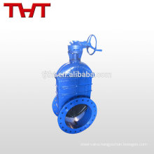 Large diameter rubber seat flanged compression ball gate valve