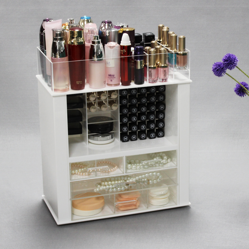 Cheap Large Clear Acrylic Makeup Organizer