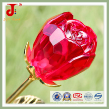 Flor de vidro aberto grande rosa vermelha (JD-CF-101)