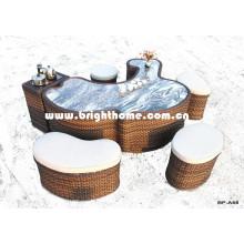New Design Tea Table PE Rattan Weaving for Outdoor Use Bp-A68A