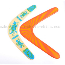 OEM DIY Logo Outdoor Sport V Wooden Boomerang Toy