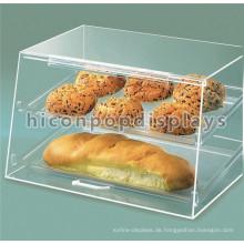 Free Design Food Shop Counter Top Clear Acryl Brot Display Einzelhandel Bäckerei Kuchen Display Fall