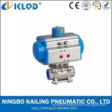 3 pcs pneumatic ball valve/ Pneumatic Stainless Steel Ball Valve