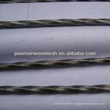 Matériau de construction en acier tordu de 5,0 à 12 mm