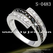 925 Anel de prata esterlina sólido carimbado (S-0483)