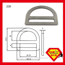 "230 aço galvanizado 2 ""single slot D-ring"