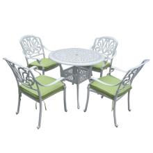 Cast Aluminium Metall Terrasse Ess-Garten-Möbel-Set